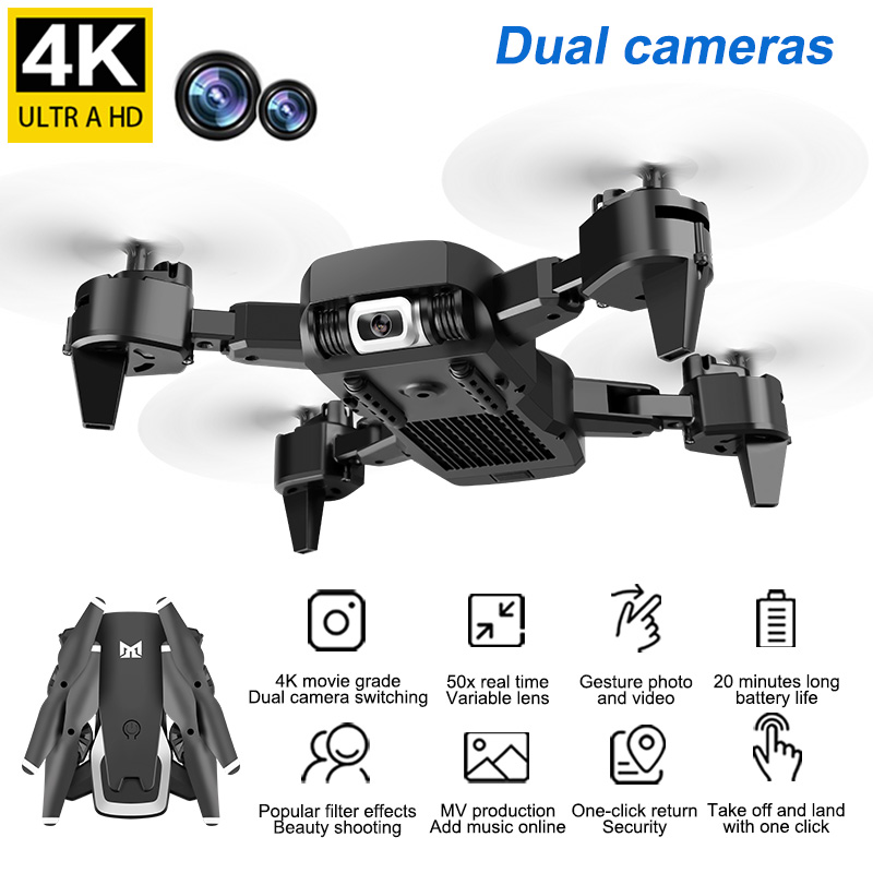 KK6 4K High Definition Aerial Photo Folding Aircraft 360 Degree Rotation Four Axis Mini Remote Control Aerial Photo UAV Toy