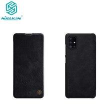 Чехол Nillkin QIN для Samsung Galaxy A51, роскошный кожаный чехол-книжка с защитой от сна, с функцией пробуждения, для Samsung Galaxy A51, с функцией сна