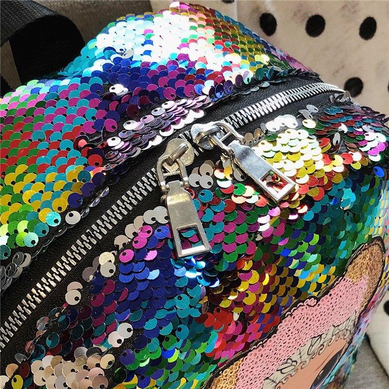 Sequin School Bag Kindergarten School Bag GIRL'S Baby 1-3-6-Year-Old Cute Small Bookbag Girls Shoulder CHILDREN'S Rucksack