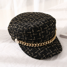 Winter Cap Octagonal-Hat Flat-Top New-Brand Beret Woolen Girls Retro British Women Autumn