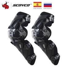 SCOYCO-genouillères pour moto, genouillères CE, Protection pour Motocross, Protection pour course, équipement de sécurité, orthèse pour course