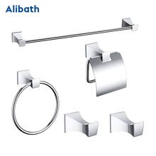 Free shipping,solid brass Bathroom Accessories Set, Chrome Robe hook,Paper Holder,Towel Bar,Towel Rack bathroom Hardware set. цена 2017