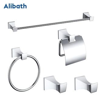 цена на Free shipping,solid brass Bathroom Accessories Set, Chrome Robe hook,Paper Holder,Towel Bar,Towel Rack bathroom Hardware set.