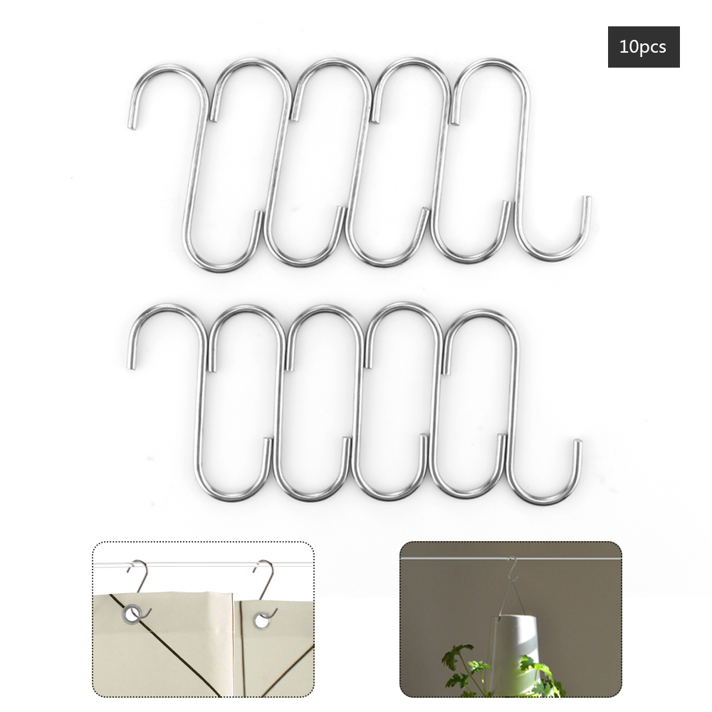 Useful New 20pcs S Shaped Hooks Kitchen Hanging Hanger Storage Holders Organizer Household Home Essential Railing Clasp
