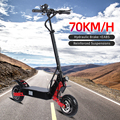 Halo Knight 70km/h 52V 2400W Electric Scooter With Seat 10 inch Double Drive Vacuum Tyre 90km Folding E Scooter For Adult