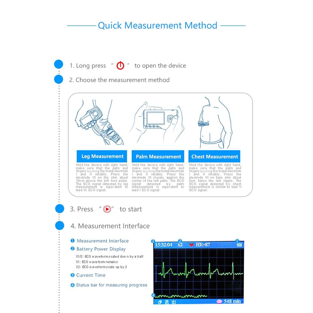 Медицинский Портативный Легкий ЭКГ монитор Исцеление устройство для испытания усилия монитор сердечного ритма с USB кабель+ электрод колодки+ свинцовые провода