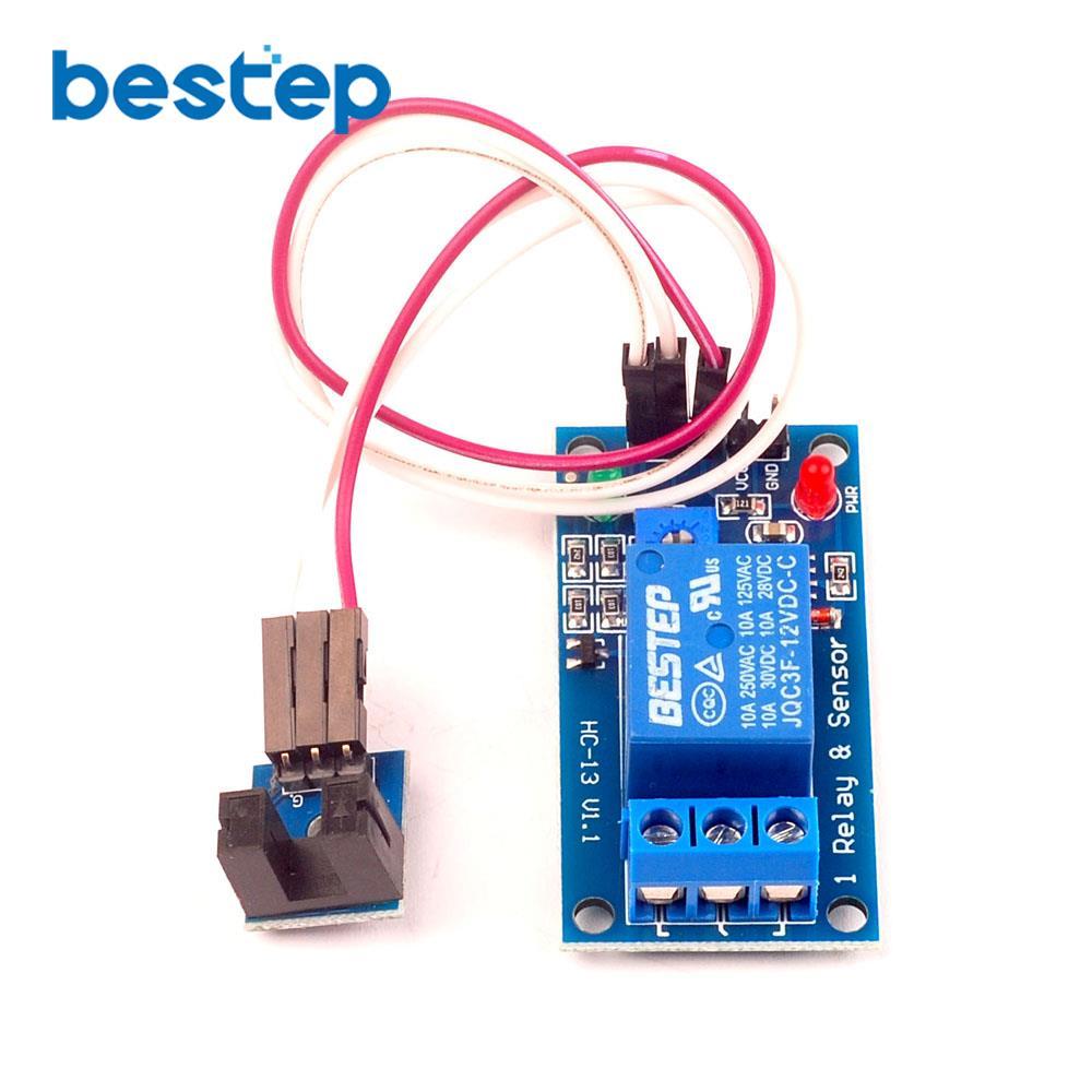 Модуль датчика скорости, 5 В, 12 в пост. Тока, оптический переходник, 1-канальный релейный модуль