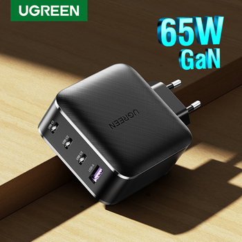 UGREEN PD65W GaN Charger for Tablet Quick 3.0 4.0 SCP Charger for Huawei USB C Charge for Xiaomi Notebook Power Adapter Charger