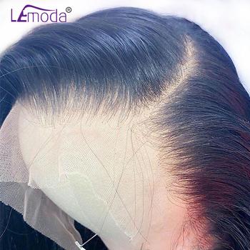 HD przezroczyste koronkowe peruki 13 #215 6 koronki przodu włosów ludzkich peruka Lemoda Remy 4 #215 4 zamknięcie peruka brazylijski 28 Cal prosto koronki przodu peruka tanie i dobre opinie long Proste HD koronkowe peruki CN (pochodzenie) Remy włosy Ludzki włos Ręka wiążący Wszystkie kolory Swiss koronki