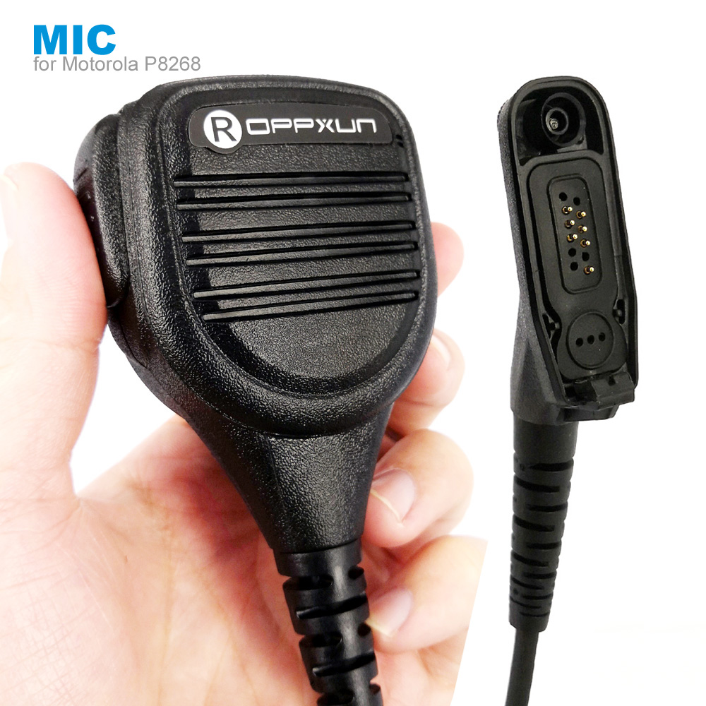 Microphone Speaker Mic For Motorola Xir P8268 P8260 P8200 P8660 GP328D DP4400 DP4401 DP4800 DP4801 Walkie Talkie Two Way Radio