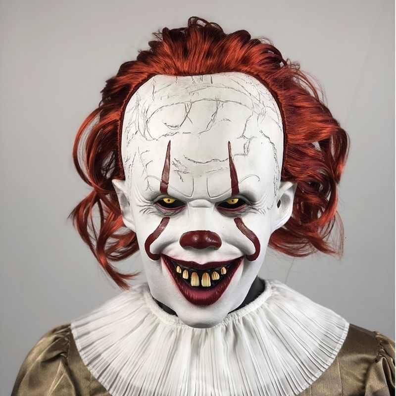 Joker Pennywise Cosplay Costume Con La Maschera Stephen King Si Capitolo Due 2 Orrore Pagliaccio di Halloween Del Partito Del Costume Prop