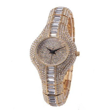 Crystal Small Face Ladies Bling Watches Women Luxury Brands Wrist Watch Inlaid Colorful Stone Luxury Full Diamond Fashion Watch