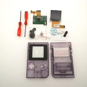 Diy части GBP ЖК-экран наборы Консоль оболочка чехол кнопки для игры мальчик карманная подсветка 5 уровней яркость отвертки