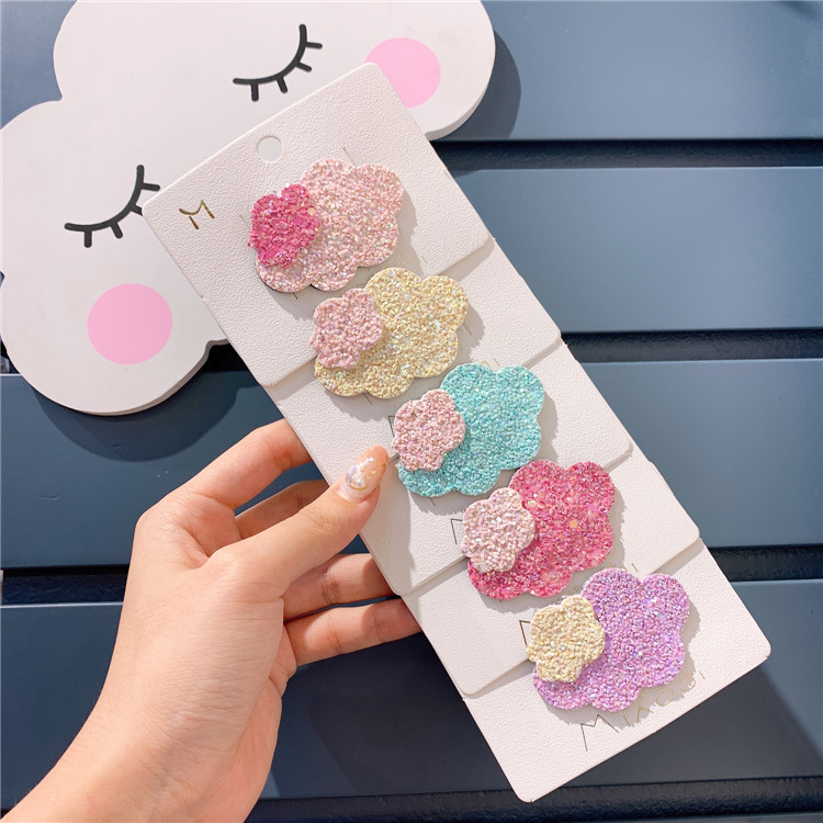 Lovely Hairpin New Children Kids Hair Clip Flower Mini Barrettes Cloud Hair Accessories For Kids Girls Headwear Hot Sale