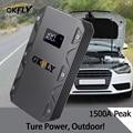 Пусковое устройство GKFLY  портативное пусковое устройство высокой мощности 20000 мАч  12 В  1500 А  зарядное устройство для автомобиля  светодиодны...