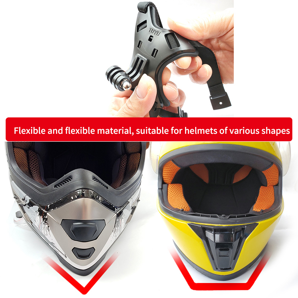 TUYU Full Face Helmet Chin Mount Holder for GoPro Hero 9/8/7/6/5 SJCAM Motorcycle Helmet Chin Stand for Gopro Camera Accessory-1