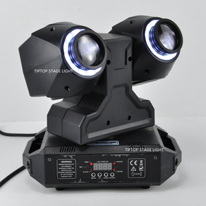 Image 4 - TIPTOP 2 X 30W New Club Beam Led Moving Head Light DMX512 Control Dual 30W LED Tyanshine with Halo RGB 3IN1 Hanging Clamp Hole