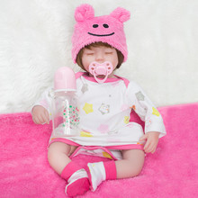 22 Inch Baby Reborn Doll  Reborn Baby Girl with Clothes Doll Alive Full Silicone Vinyl Reborn Baby Dolls Realistic Princess Doll lovely silicone baby dolls with santa claus clothes children christmas gifts brown eyes lifelike alive reborn simulation doll