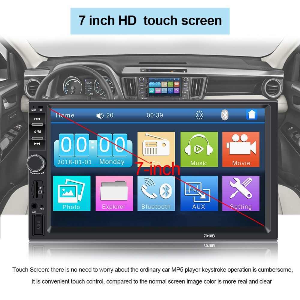 """7018b Radio 2 Din Auto Radio Coche Recorder Speler Hd 7 """"Autoradio 2din Oto Teypleri Touch Screen Auto Audio stereo Mp5 Bluetooth"""