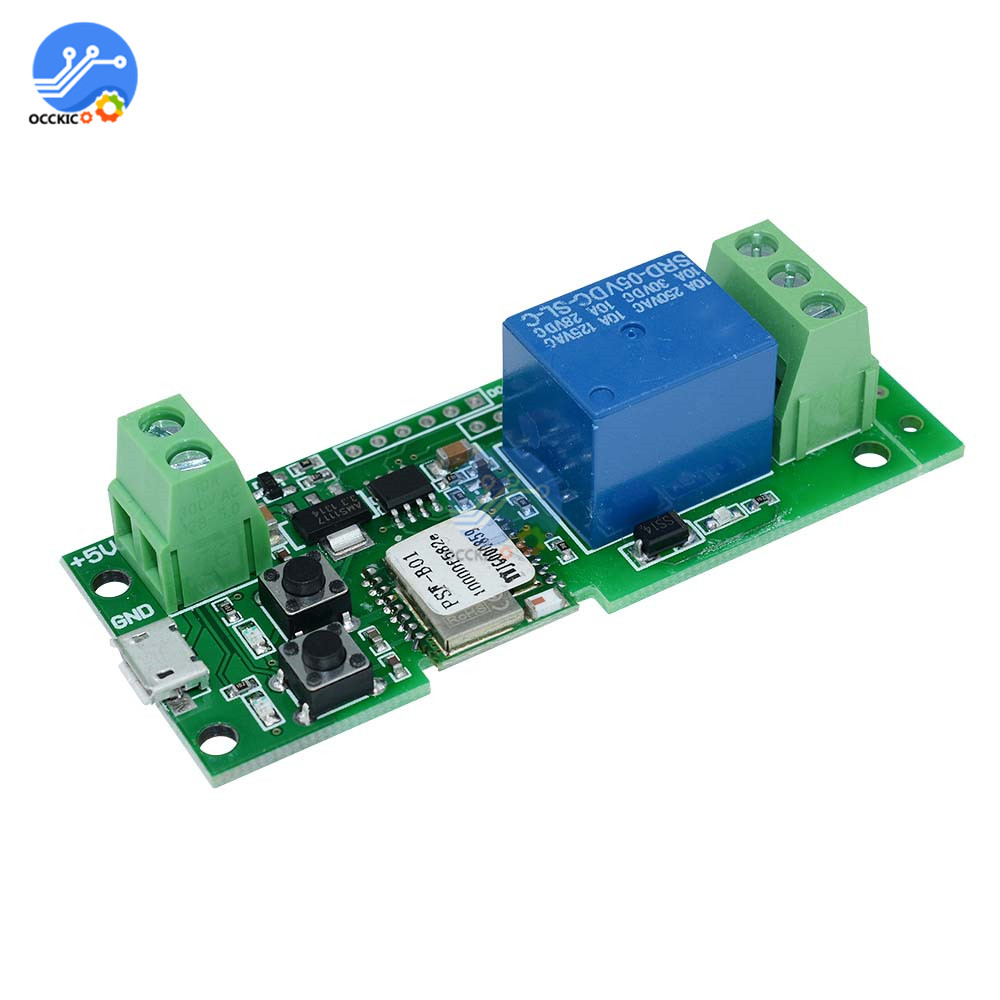 DC 5V Wifi Switch Wireless Relay Module for Android/IOS APP Control RF 433MHz Remote Switch For Smart Intelligent Home
