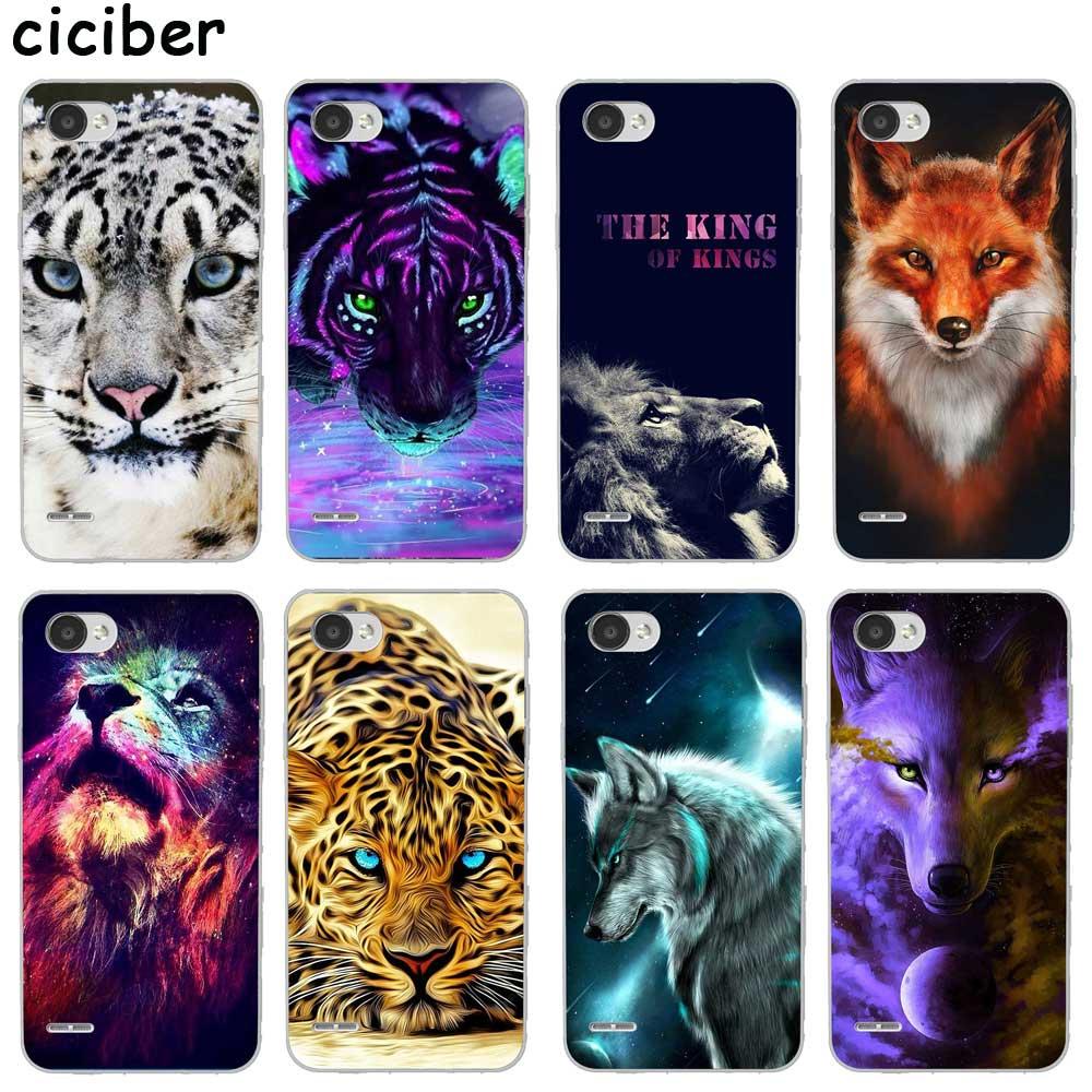 Animal Tiger Lion Fox For LG K10 K8 K7 K4 2017 2018 K9 K11 K50 V40 V35 V30 V20 THINQ G7 G6 G8 Q60 Soft Silicone TPU Phone Cases