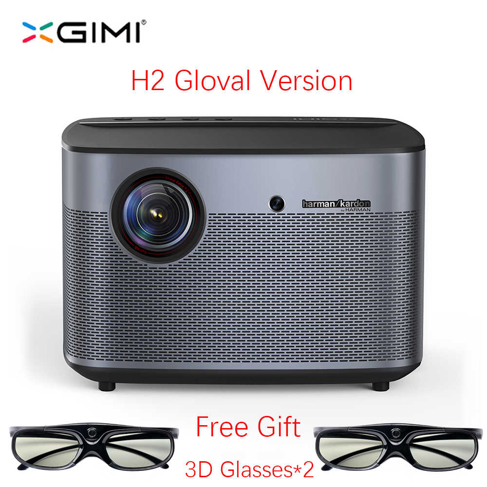 Xgimi H2 DLP Projector Full HD 1080P 1350 ANSI 3D Dukungan 4K Video Projecteur Android WIFI Home Theater beamer Xgimi H1 Upgrade