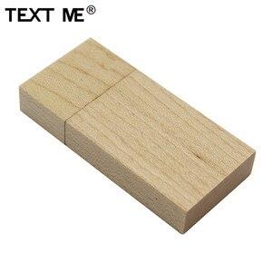 Image 5 - Texte moi Rose bois érable bois LOGO personnalisé clé usb usb 2.0 4GB 8GB 16GB 32GB 64GB photographie cadeau Walunt bois