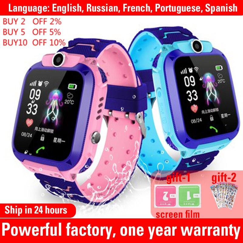 Q12 Waterdichte Kinderen Slimme Horloge Sos Antil-Verloren Smartwatch Baby 2G Sim-kaart Klok Oproep Locatie Tracker Smartwatch pk Q50 Q90 1