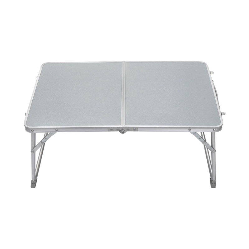 """Small 62x41x28cm/24.4x16.1x11"""" PC Laptop Table Bed Desk Camping Picnic BBQ (Silver White)"""
