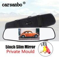 Carsanbo 5 Zoll TFT LCD Farbe Monitor Auto Rückspiegel Monitor Einparkhilfe Für Auto Rückansicht Kamera 12V 24V