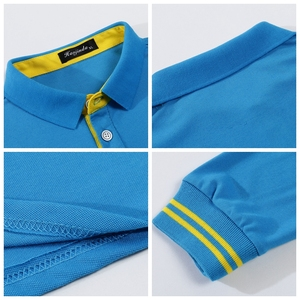 Image 3 - High Quality Men Polo Shirt Fall Long Sleeve Solid Large Size Top Fall Polos Shirt Fashion Popular Casual Couple clothing Custom