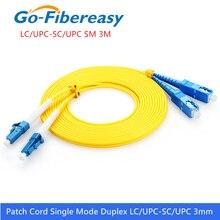 LC SC Fiber Patchkabel Kabel OS1 single mode Duplex Lwl patchkabel 3mm PVC 3Meter LC/ UPC SC/UPC Fiber Optic Jumper Kabel