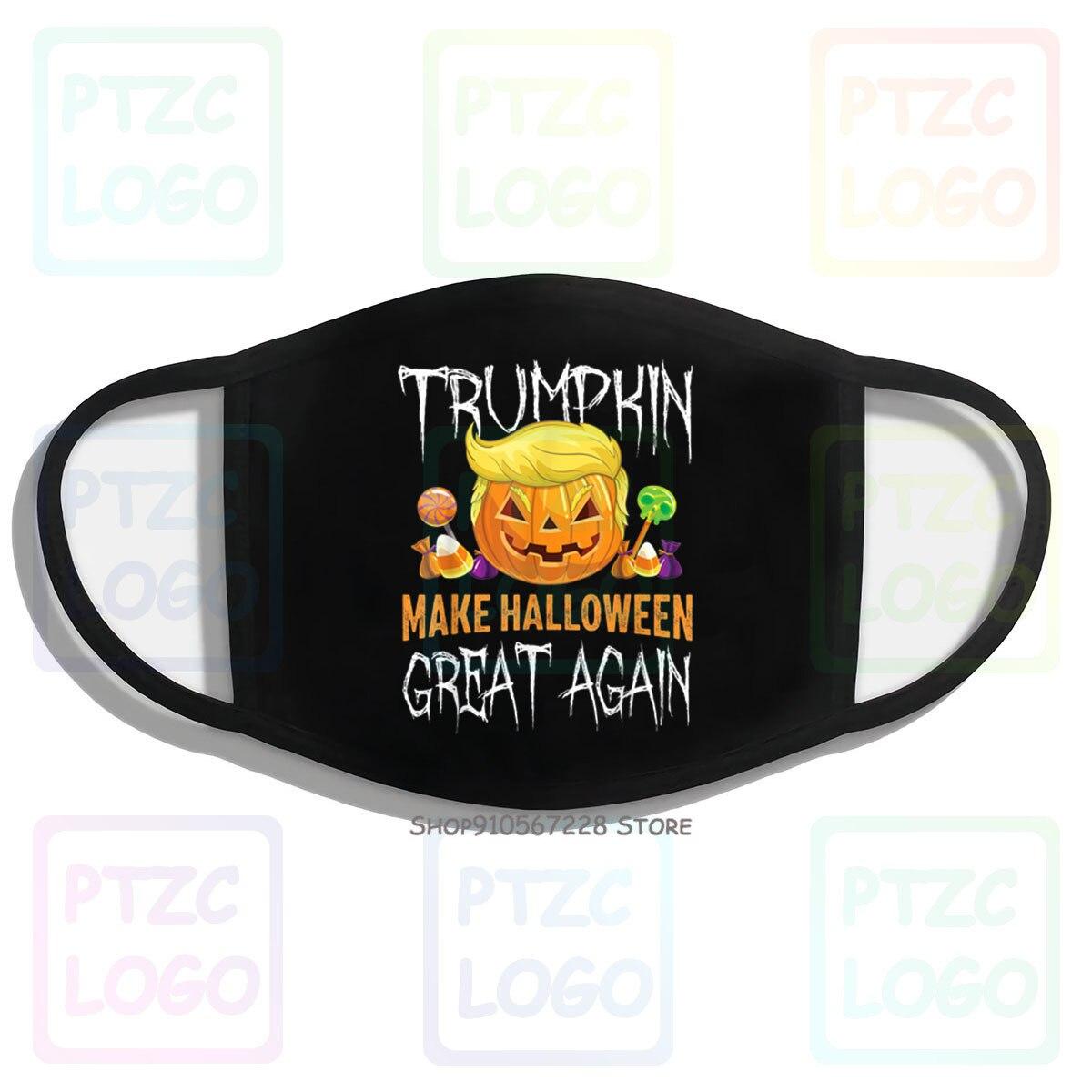 Trumpkin oficial fazer halloween ótimo novamente trump cabelo abóbora boca máscara facial