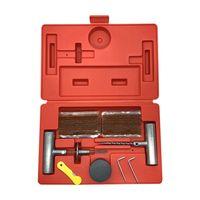 36Pcs Car repair tool set car tire repair kit T type repair pin Tire strip Vacuum repair box Tubeless tire puncture repair kit