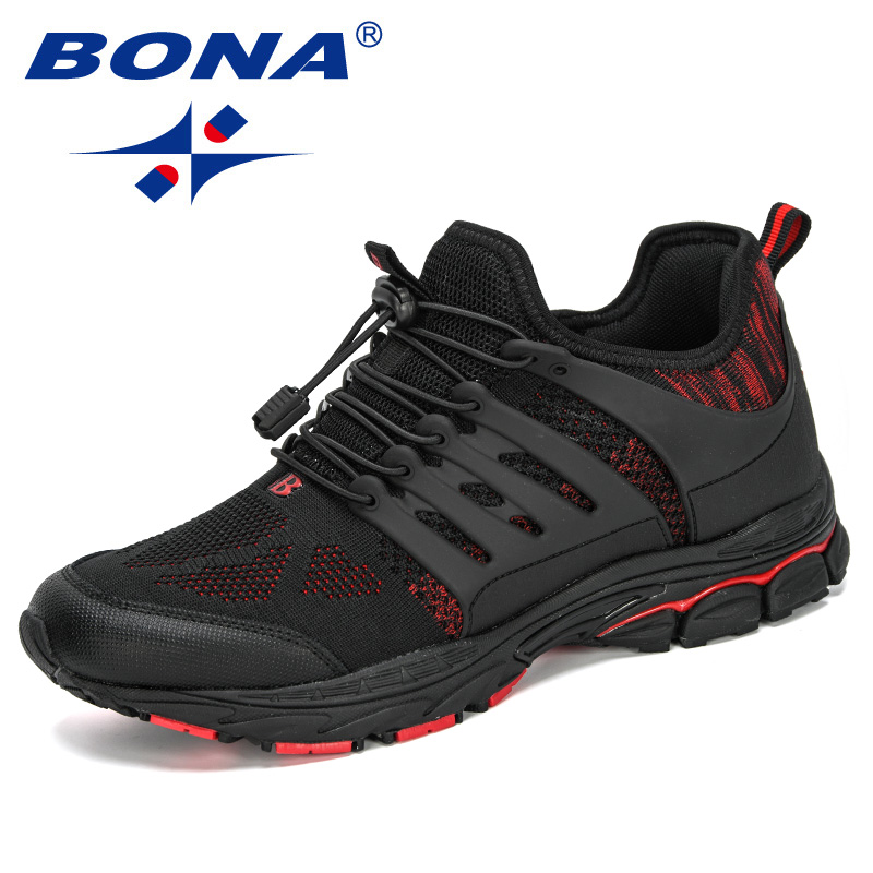 BONA 2020 New Designers Mesh Sneakers Men Outdoor Running Shoes Man Sport Shoes Male Zapatos De Mujer Training Trainers Trendy