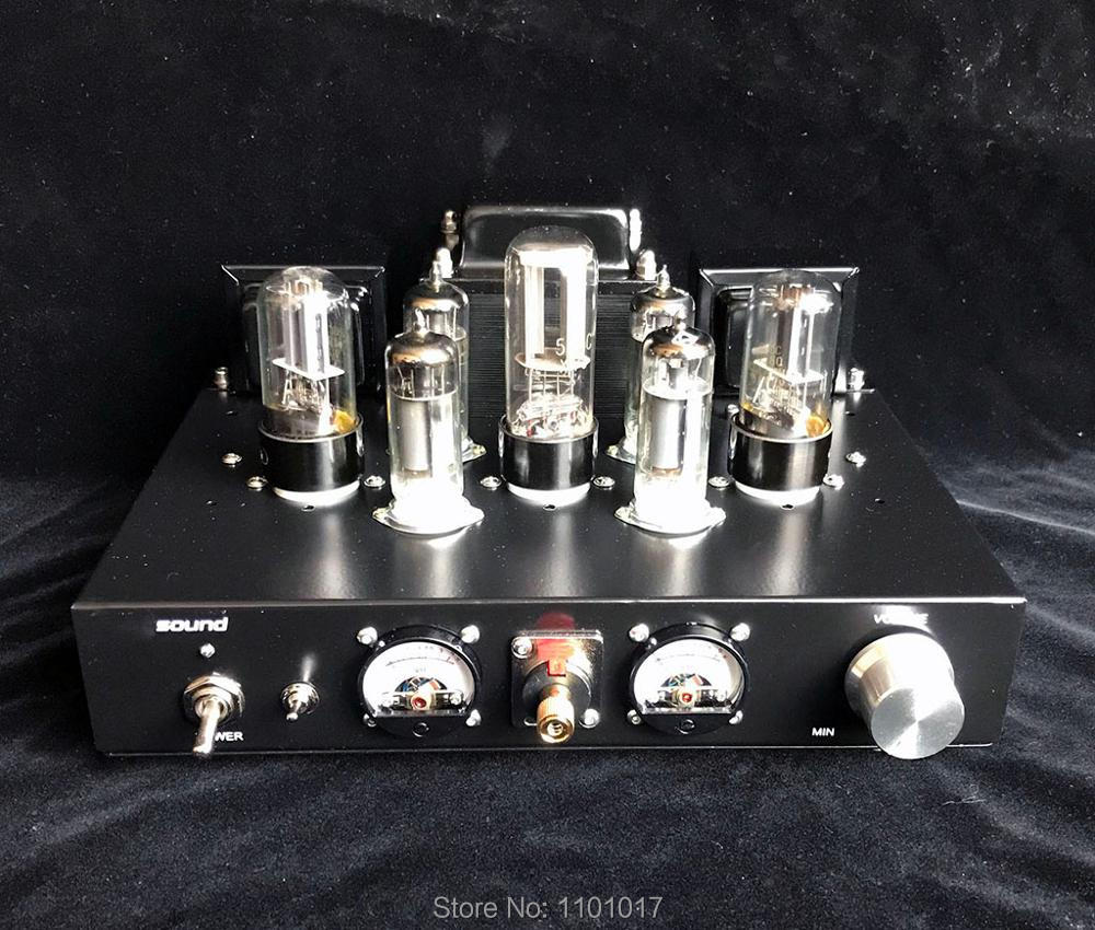 APPJ 6J1 6P1 Mini Vacuum Tube Amplifier Stereo HiFi Desktop Power Amp 3W+3W B