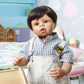 Reborn Toddler Boy Doll 70cm Lifelike bebe Bonecas Reborn Whole Silicone Inteiro Menino Brinquedos child clothing model gift
