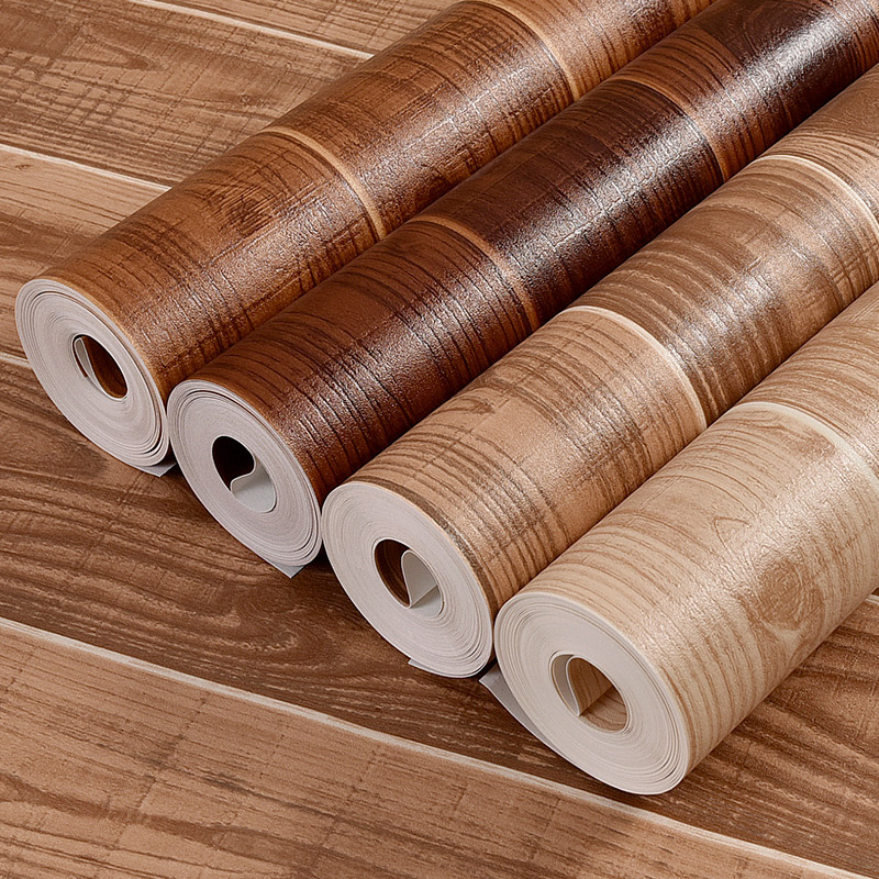 Chinese Style Retro Nostalgic 3D Wood Grain Wallpaper Theme Hotel Coffee Shop Tatami Wood Grain Wallpaper