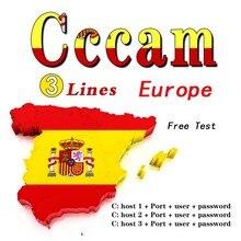 24m clines para europa 3/4/5/6/7 linhas satélite DVB-S2 para gtmedia v8 nova v7s v9 freesat oscam servidor teste 48h
