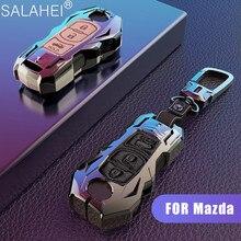 Zinc Alloy + Leather Car Key Case Cover For Mazda 3 Mazda 6 CX5 CX4 CX  5 CX  7 CX  9 Atenza Car Protector Styling Accessories