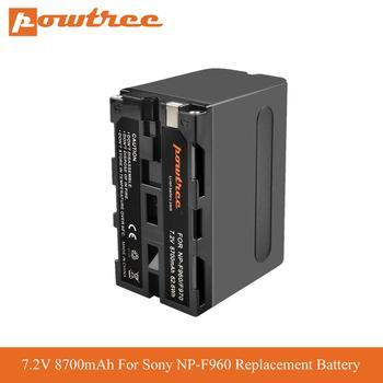 Powtree 8700mAh NP F970 NP-F960 Replacement Battery for Sony F960 975 QM91D Batterie DCR-VX2100 DSR-PD150 DSR-PD170 L70