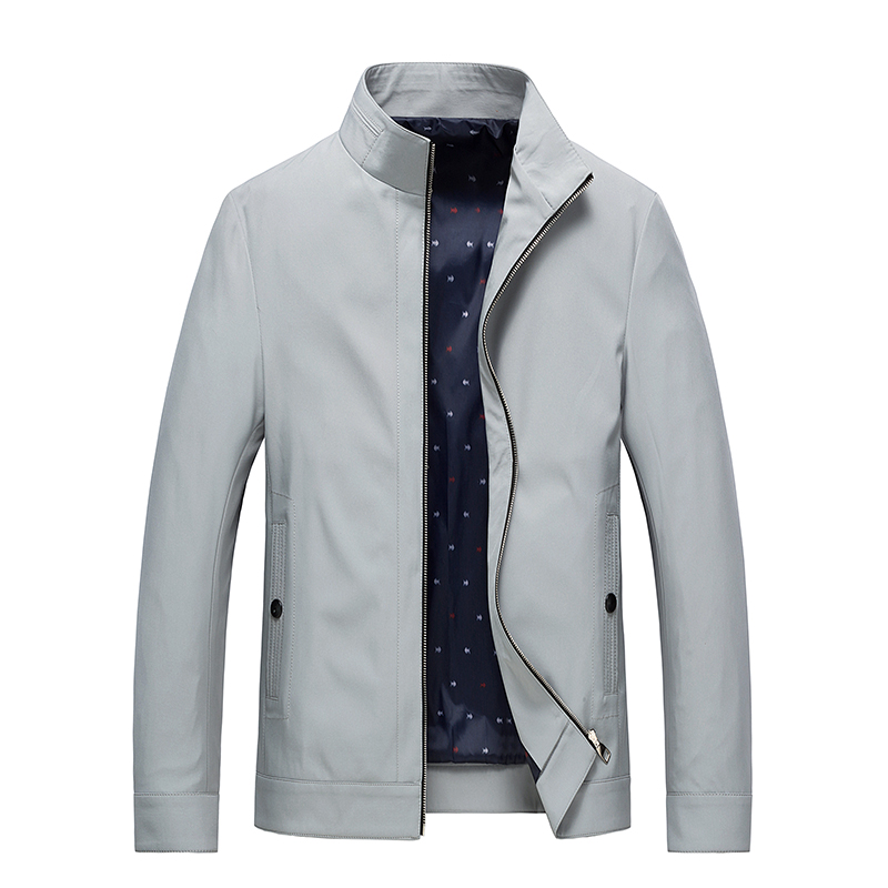 New Spring Summer Thin Casual Jacket Mens Fashion Stand Collar Business Jackets Coat Pockets Windproof Mens Outwear Windbreakers