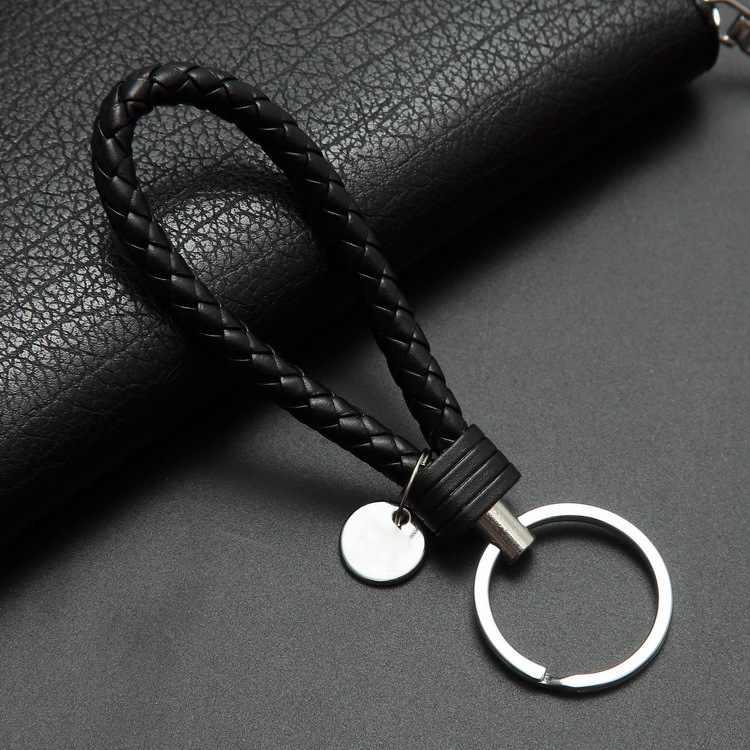 Mode Handgemachte Leder Seil Gewebte Schlüsselbund Metall Schlüssel Ringe Schlüssel Ketten Männer oder Frauen Schlüssel Halter Schlüssel Abdeckung Auto geschenke