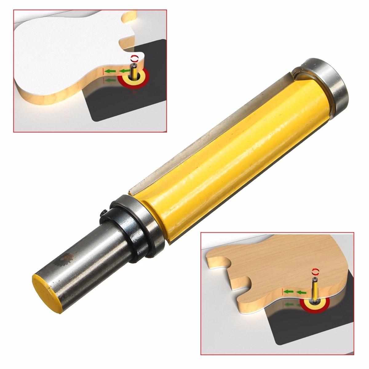 1pc 112 milímetros Comprimento Padrão Flush Trim Painel Top & Bottom Rolamento Router Bit 1/2 Polegada Shank Fresa Madeira cortador