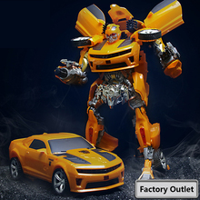 30-40CM Transformation Robots Car Toys Car Optimus Wasp Sound Light Edition Car Deformation Robot Model Boy Toys With Box