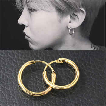 Cool Punk Men\'s Hoop Earrings For Woman Piercing Hypoallergenic Round Circle Earrings Vintage Korean Couple Earring Jewelry Gift - DISCOUNT ITEM  45% OFF All Category
