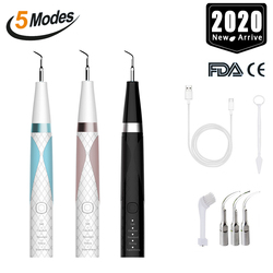 Portable USB Recharge Ultrasonic Calculus Remover Dental Scaling Electric Scaler Sonic Remove Smoke Stains Tartar Plaque Teeth