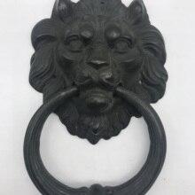 Unilrocks Большой античный латунный дверной молоток со львом дверной молоток с львиной дверные ручки Львы домашний декор