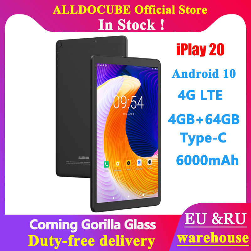 "Alldocube Neue Android 10 iPlay20 4G Tablet 10.1 ""1920x1200 SC9863A Octa Core 4GB RAM 64GB ROM Anruf GPS 6000 mAh Tabletten PC"