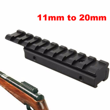 Adapter Ride-Scope Airgun Picatinny-Rail Hunting Rifle 20mm From-11mm Weaver Extension-Mounting